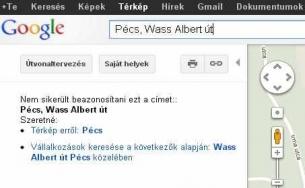 Wass Albert utca: a Google-nek ismeretlen